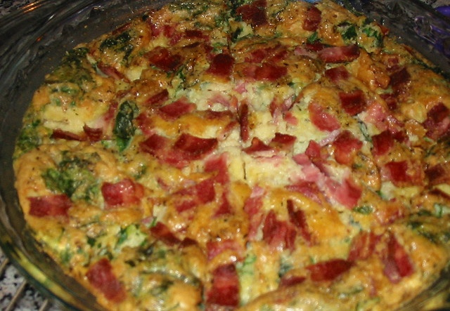 Impossibly easy Bacon & Spinach pie by mia3mom, via Flickr