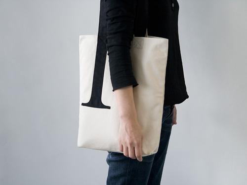 Serif Tote Bag   Little Factory