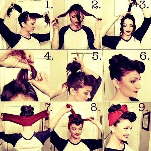 How To Make Cute & Easy Rockabilly Hair HAIR STYLES Pinterest