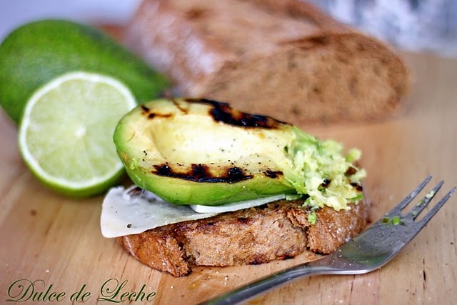 Grilled avocado on toast with parmesan,lime,and olive oil -simple,but ...