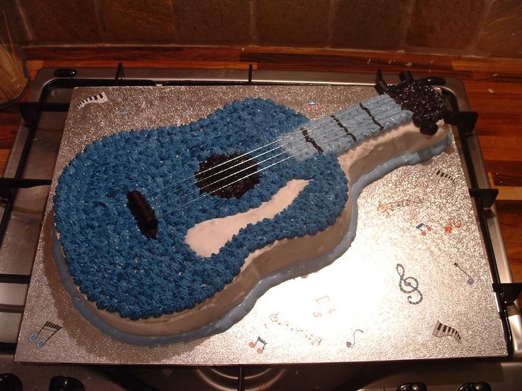 Guitar cake Cake decorating Ideas Pinterest