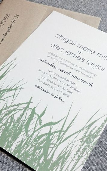 Such a great wedding invitation for an earthy affair!