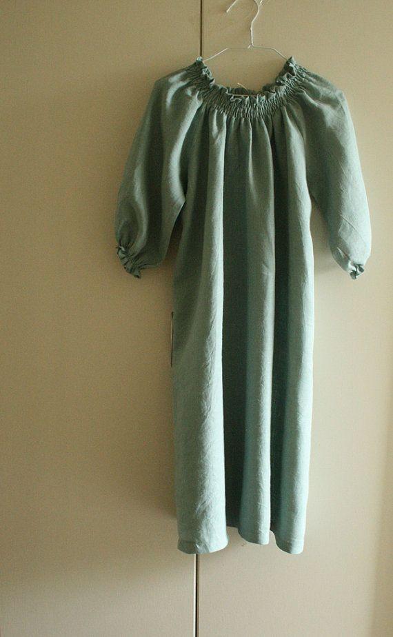 LINEN DAY DRESS / duckegg blue / womens clothing / spring summer wear