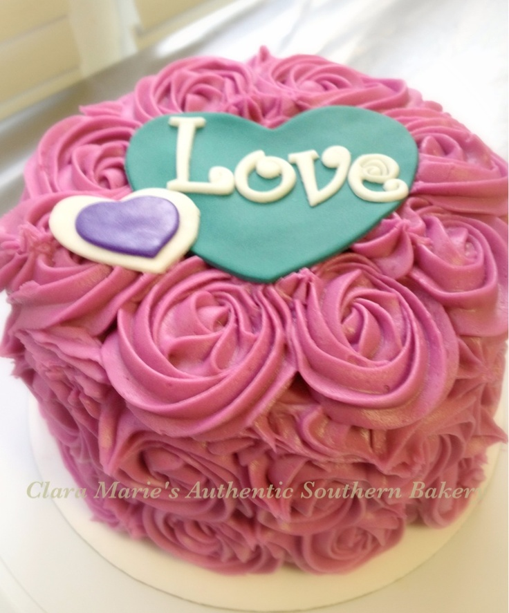 Rose Day Cake Images : Rose Swirl Valentine s Day Cake Cakes Pinterest