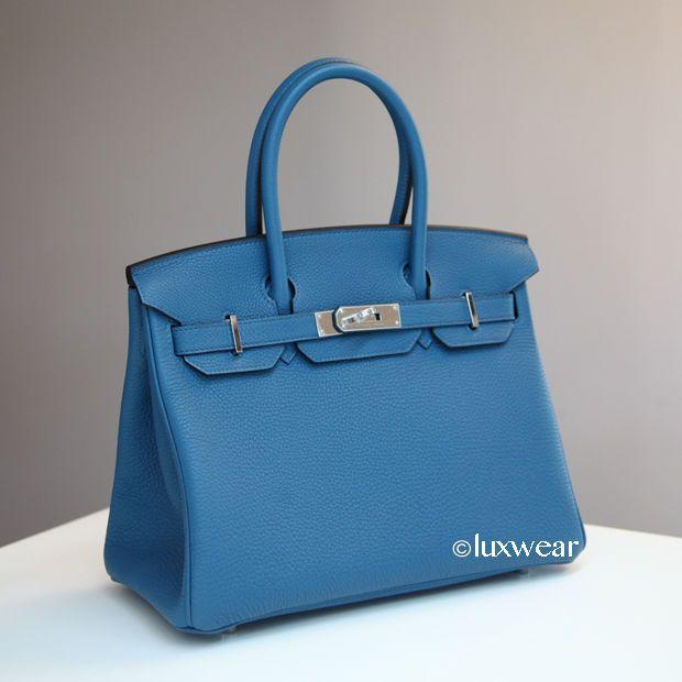 Cobalt Blue  Palladium 30cm HERMES BIRKIN BAG #HERMS #TotesShoppers
