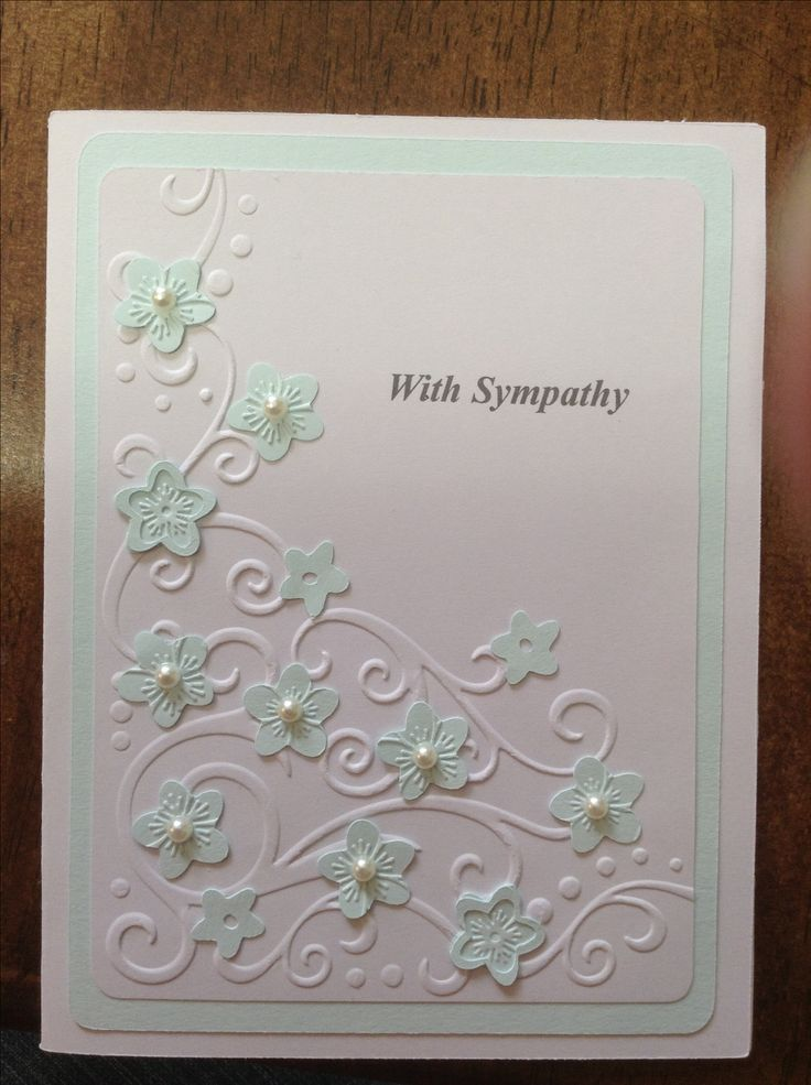 Card Making Ideas Sympathy Part - 45: Embossed Sympathy Card-Beautiful! Prefer All White Or Different Colour  Scallop Oval I Think. | Card Ideas | Pinterest | Emboss, Cards And Card  Ideas