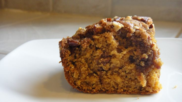 pumpkin coffeecake with brown sugar pecan streusel