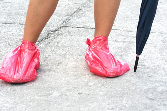 shoes with if it starts raining heavily and your shoes can t get wet