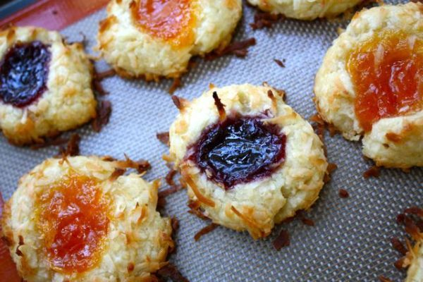 Jam Thumbprint Cookies Makes 30-ish little nests Adapted from Ina ...