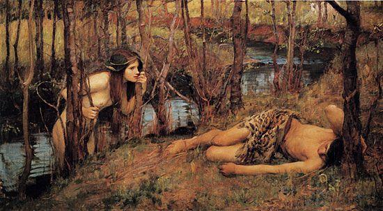 John William Waterhouse : A Naiad
