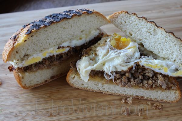 Fried Egg Sausage and Cheese Panini | Breakfast- Eggs | Pinterest