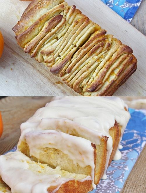 Orange Roll Pull-Apart Bread--Maybe I won't go into a coma if I leave ...