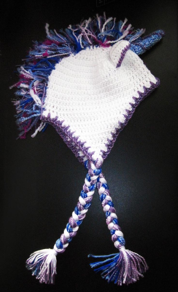 Knitting Pattern Unicorn Hat : Unicorn hat crochet Knitting and Crocheting Pinterest