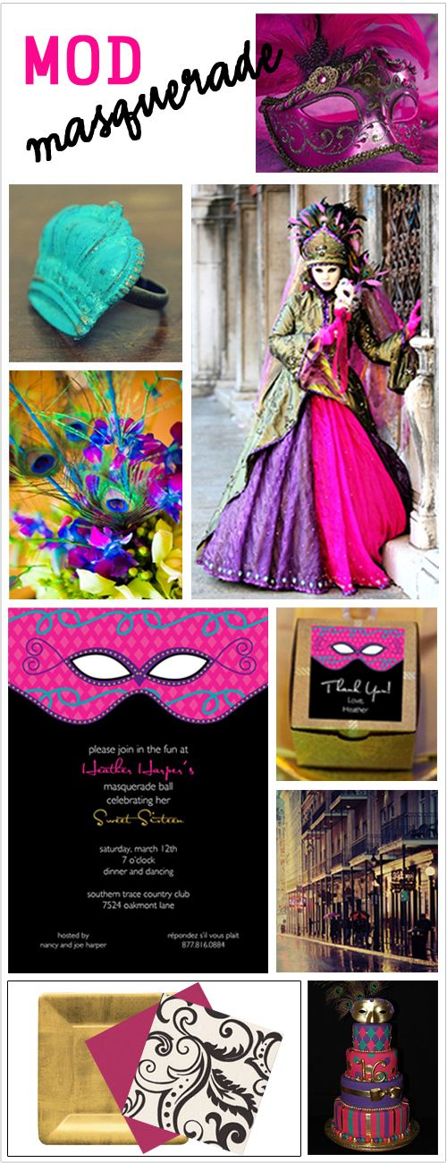 Sweet Sixteen Party Ideas,Sweet Sixteenth Party,Sweet 16,Sweet 16th Birthday Party Idea,Masquerade Theme Sweet Sixteen Party Idea,Masked Ball Sweet Sixteen
