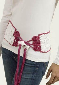 Millefilli Fine Flower Belt/Scarf, free pattern
