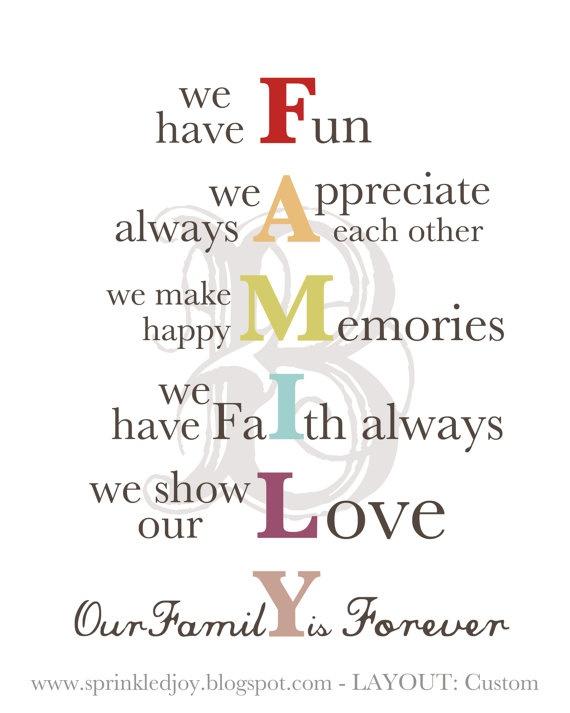 Family acronym. Simple but profound. | AP | Pinterest