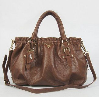 Prada Handbags,Prada Genuine Leather Handbag 62018 Deep Coffee-$