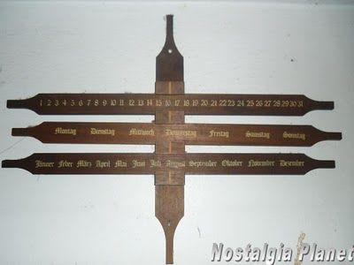 Nostalgia: German Wooden Wall Calendar | crafts | Pinterest
