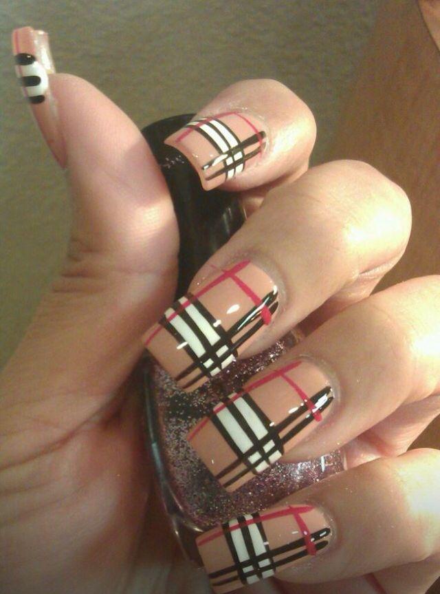 Burberry Design Nails Pinterest