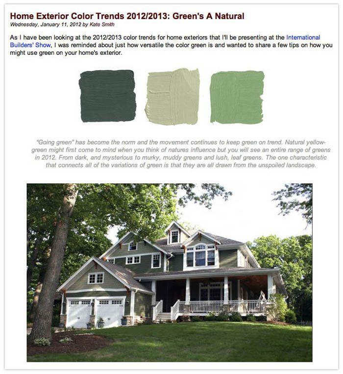 exterior color trends for 2012 2013 sensational color pro kate smith. Black Bedroom Furniture Sets. Home Design Ideas