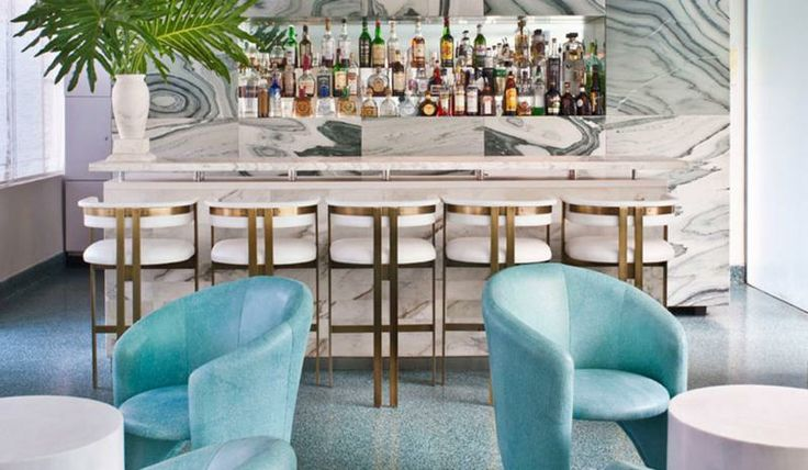 The bar at the Avalon Hotel in Beverly Hills