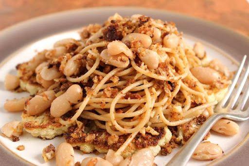 Pasta with White Beans, Roasted Cauliflower, & Toasted Garlic ...