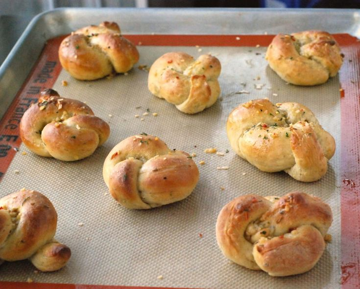 Garlic knots. Just the ticket to go with my chicken noodle soup