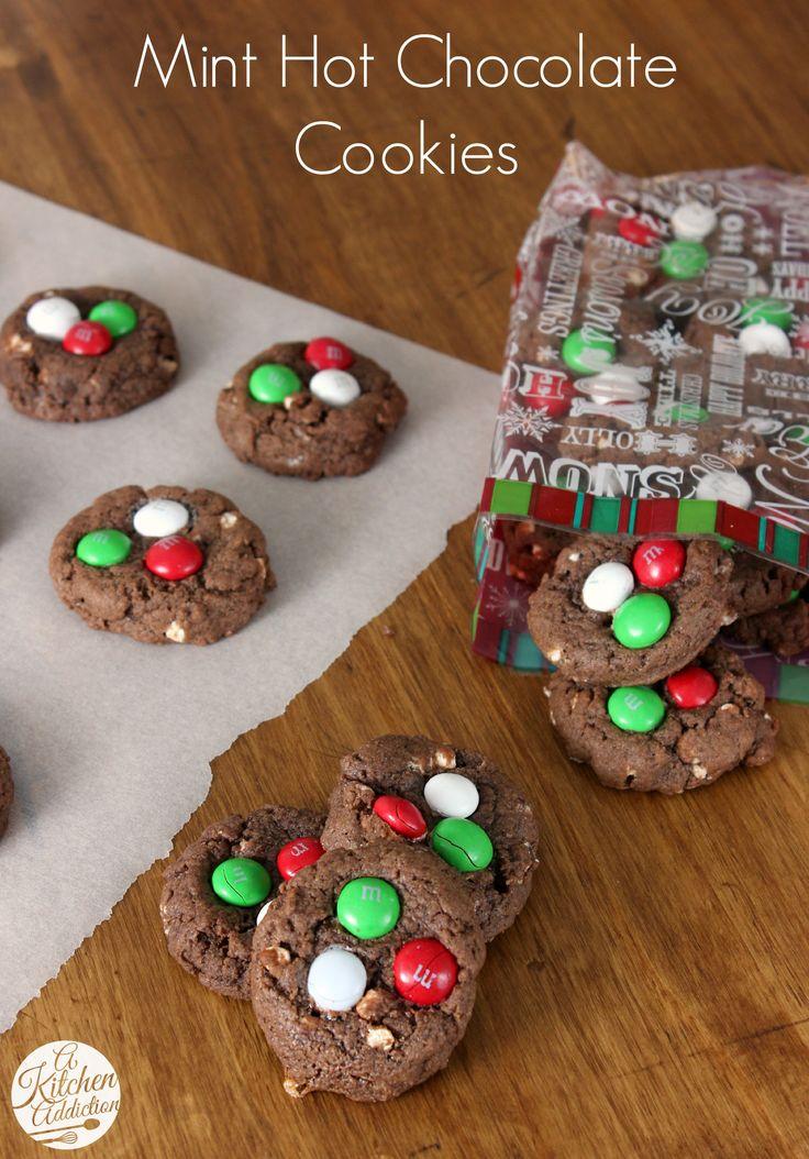 Mint Hot Chocolate Cookies from @Jess Liu l A Kitchen Addiction