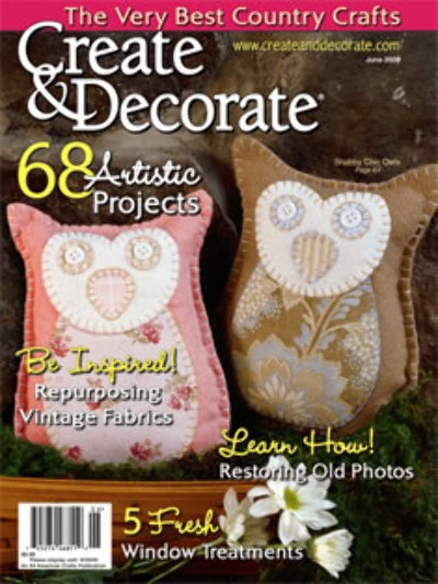 create decorate magazine primitive crafts pinterest