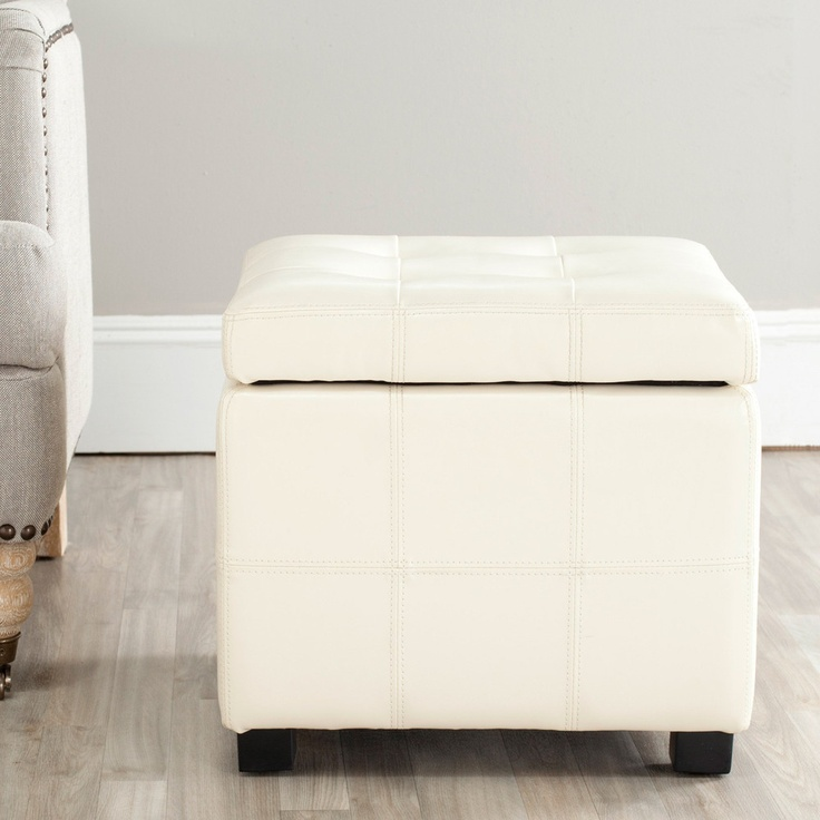 Cream Leather Storage Ottoman Pictures to Pin on PinterestPinsDaddy