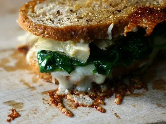 SPINACH ARTICHOKE GRILLED CHEESE | food. | Pinterest