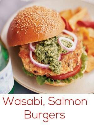 ... yellowfin tuna burger with japanese cucumber relish wasabi aioli