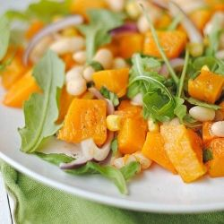 ... is like pinterest for Foodies Butternut Squash and Arugula Salad