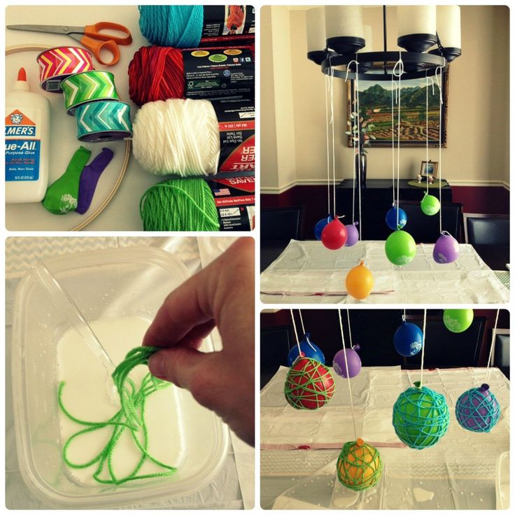 DIY Yarn Balls with Balloons