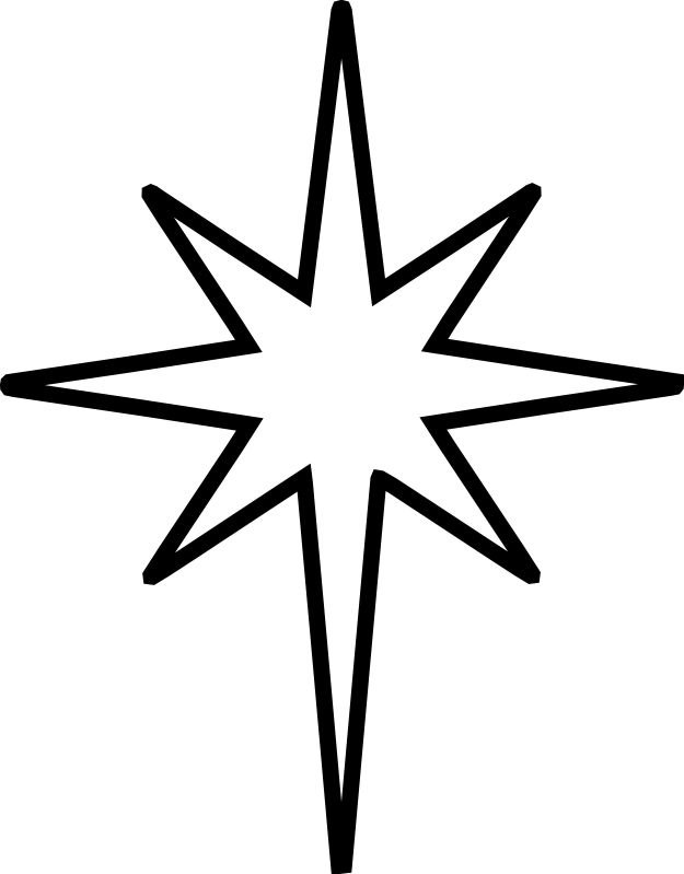 christmas star clip art black and white | The Nativity Star is the ...