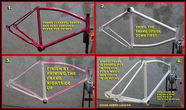 bicycle frame painting bikeness pinterest. Black Bedroom Furniture Sets. Home Design Ideas