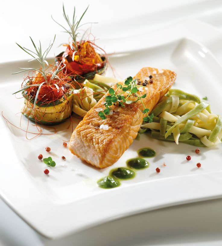 Butter-roasted Salmon with Vegetables | { Seafood } | Pinterest