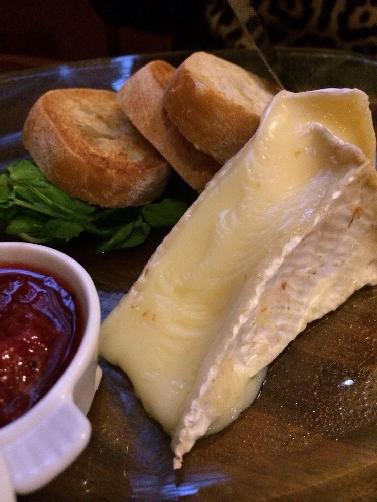 Baked Brie with spiced strawberry chutney