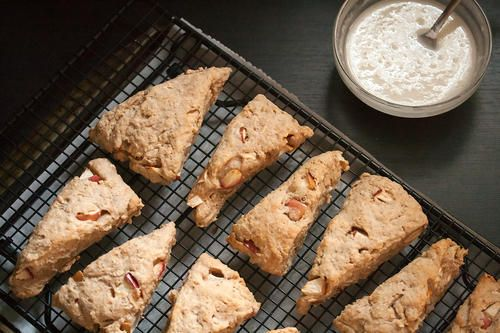 Spiced apple oatmeal scones. Ready in about half an hour. Mmm...