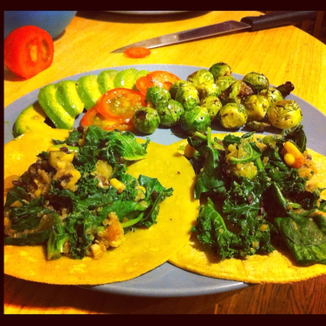 ... -free vegan quinoa and black bean tacos with kale, avocado & tomato