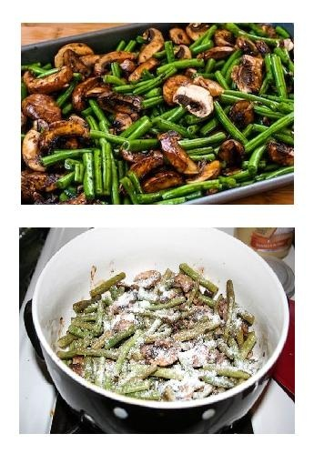 Roasted Green Beans with Mushrooms, Balsamic, and Parmesan (on my ...
