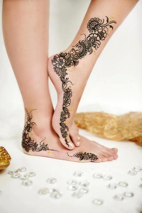 Mehndi Leg Design Latest Images : Random leg henna designs part latest mehandi design