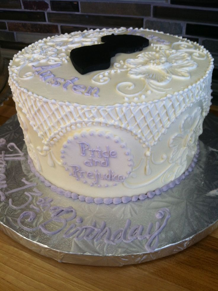 Jane Austen birthday cake | Birthday Cakes | Pinterest