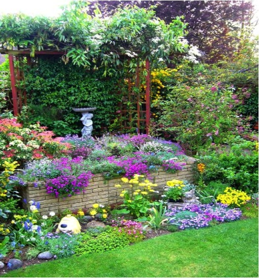 Flower garden ideas pinterest photograph colorful garden for Flower garden designs