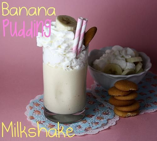 Banana Pudding Milkshake | Drinks Recipe | Pinterest