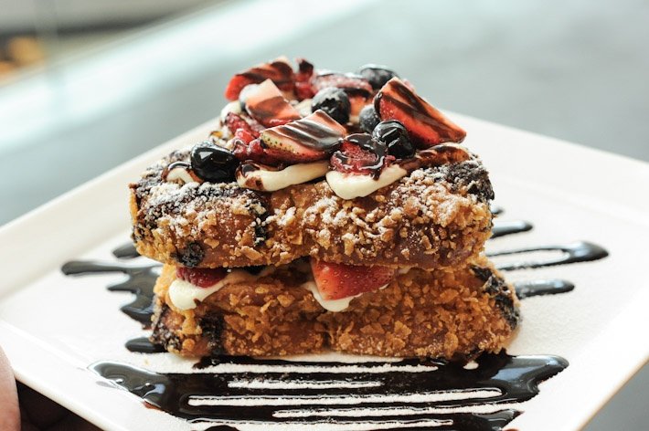 """... Stuffed French Toast"""" slices of Brioche bread filled with Berries and"""