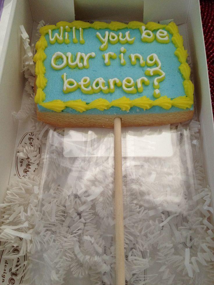 Ring bearer ask gift idea Wedding Pinterest