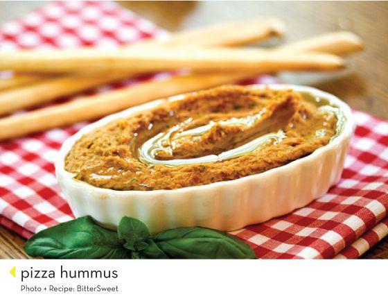Pizza hummus   Delish   Pinterest