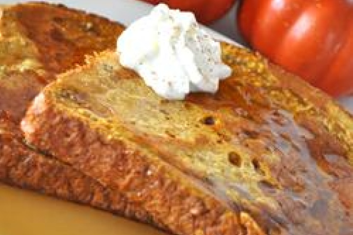 Pumpkin Pie French Toast. Combined 2 of my favorite things. Must try!!