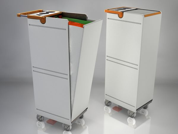 trolley for airline recycling trolleys pinterest. Black Bedroom Furniture Sets. Home Design Ideas